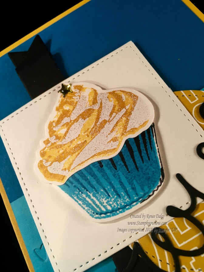 Cupcake image with embossed icing
