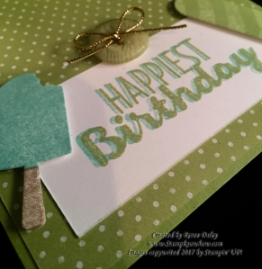 Close up of Birthday Sentiment from the Cool Treats Bundle