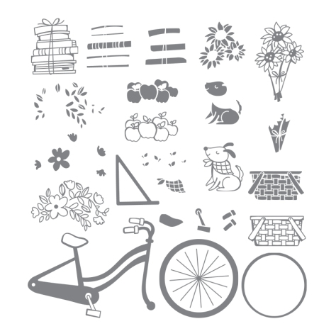 Closeup of Stampin' UP! Bike Ride Stamp Set
